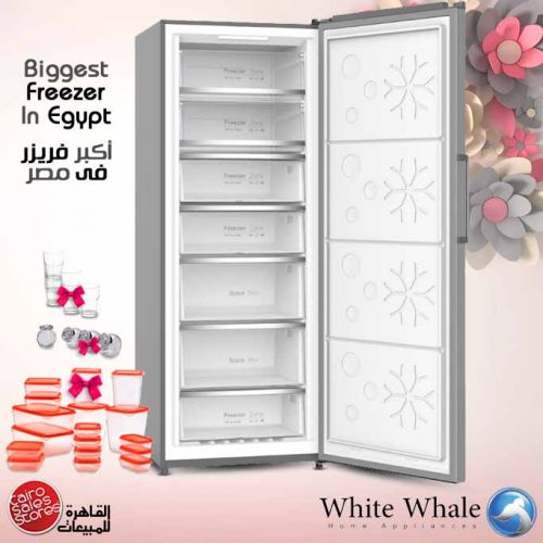 White Whale 7 Drawers Deep Freezer Stainless Steel Digital: WF-3068KSS