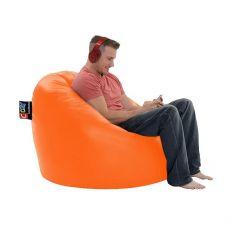 Cozy Taj Buff Leather Bean Bag 109*70*70cm Waterproof Orange CTBWPL-O