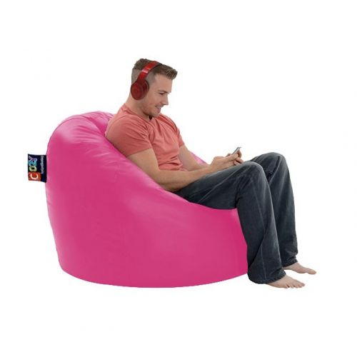 Cozy Taj Buff Leather Bean Bag 109*70*70cm Waterproof Pink CTBWPL-P