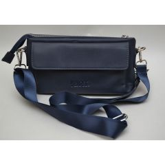 ART Waist Bag PU Leather Dark Blue AW-1420 BU