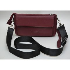 ART Waist Bag PU Leather Dark RED AW-1420 DK