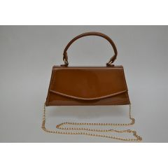 ART Mini Satchel PU Shiny leather Havane ASB-1364H