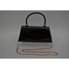 ART Mini Satchel PU Shiny leather Black ASB-1364BK
