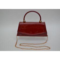 ART Mini Satchel PU Shiny leather Maroon ASB-1364M