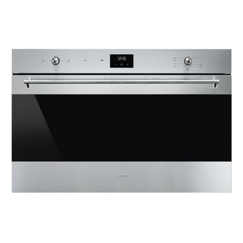 SMEG Built-In Gas Oven 90 cm with Gas Grill Stainless Steel Digital SF 9300 GVX1