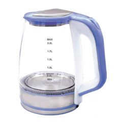 GTEC Glass Kettle 2.2 Liter 1500 Watt Blue G002-GKE-B
