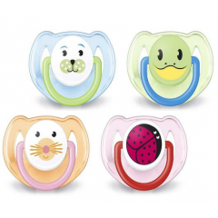 AVENT Pacifier 2 pcs with Box and Cover for Children from 6-18 Months SCF182/64
