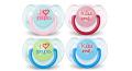 AVENT Pacifier 2 pcs for Children from 0-6 Months Light Blue*White SCF172/70