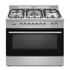 Klass Cooker Free Stand Professional 60*90 cm 5 Gas Burner Stainless Y9512A1