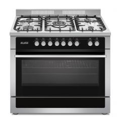 Klass Cooker Free Stand Professional 60*90 cm 5 Gas Burner Glass Stainless Y9512A1-1
