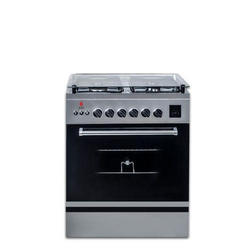 Novagas Gas Cooker 4 Burner 60*60 Stainless ELEGANT 60 FAN