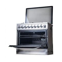 Novagas Gas Cooker 5 Burner 60*80 Stainless ELEGANT 80 BASIC