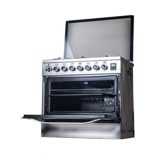 Novagas Gas Cooker 5 Burner 60*80 Stainless With Fan ELEGANT 80 FAN