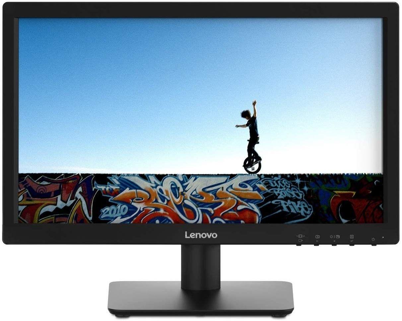 """LENOVO 18.5"""" Monitor LED 1366*768 pixels Black D19185AD0"""