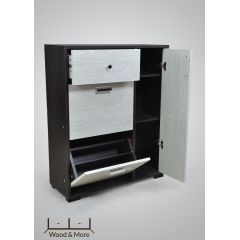 Wood & More Small Shoe Cabinet 3 Doors and 1 Locker 80*30 cm Brown SC-1LC-S