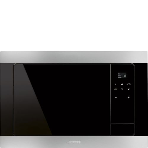 SMEG Built-In Electric Microwave Eclipse Glass with Grill 25 L Stainless Steel Black FMI320X