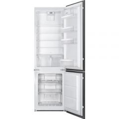 SMEG Built-in Refrigerator Bottom Mount Feet 263 Liter 2 Doors White C3172NP1