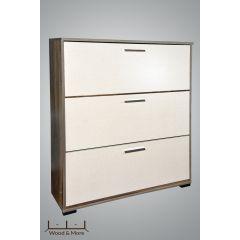 Wood & More Large Shoe Cabinet 3 Doors 100*30 cm Woody*Beige SC-3D-L (Wood)
