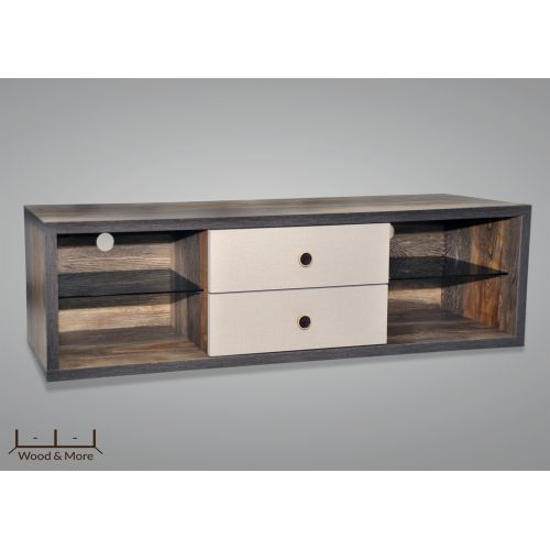 Wood&More Tv Table 2 Lockers 160*40 cm Coffee TVT-2LC-160 C