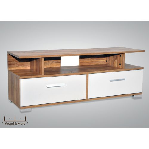 Wood & More Tv Table 2 Lockers 140*40 cm Light Brown TVT-2LC-140 Y