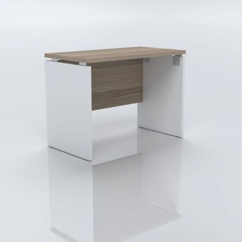 Artistico Office Desk 100*75*55 cm Without Drawers White*Beige AD100-WB