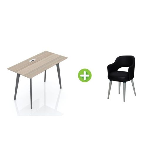Artistico Free Desk Basic 120*60 cm With Fixed Chair AFD120-FC