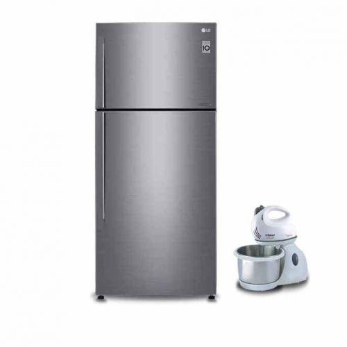 LG Refrigerator 478 Liter Hygeine Fresh No Frost Silver: GN-C622HLCU