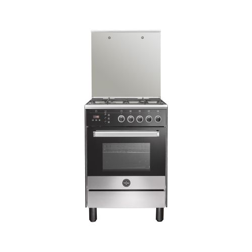 La Germania Freestanding Cooker 60 x 60 cm 4 Gas Burners With Fan Stainless*Black 6M80G4A1X4AWW