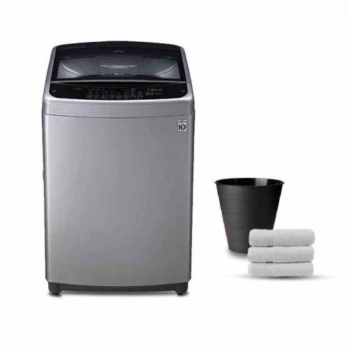 LG Washing Machine Topload 15 KG Smart Inverter Motor Silver T1588NEHTE