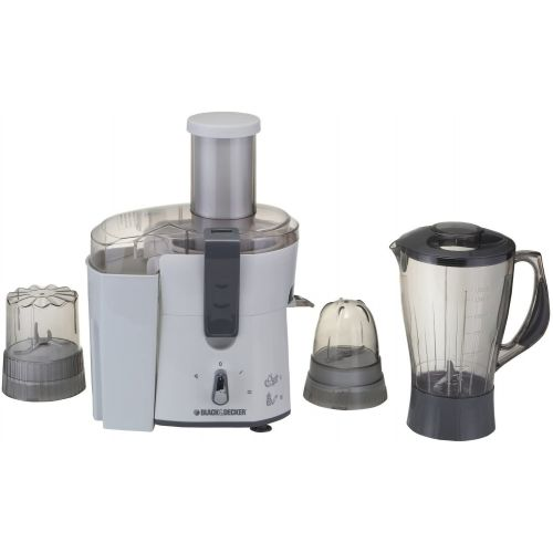 Black & Decker Juicer & Blender & Grinder 500 Watt White JBGM600-01
