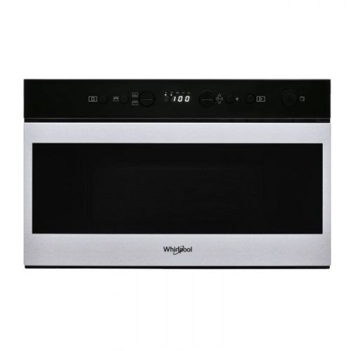 Whirlpool Built-in Microwave 60 cm 22 Liter With Grill Digital Timer Silver W7 MN840