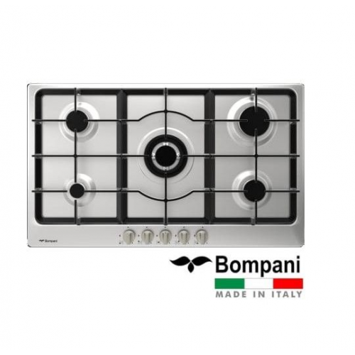 Bompani Built-In Hob 90 cm 5 Gas Burners Cast Iron Full Safety Stainless BO293MA/L