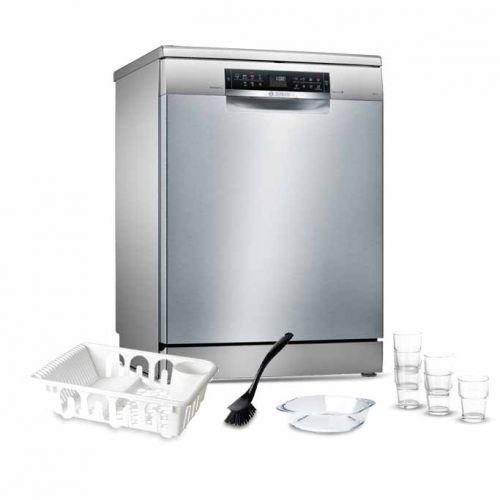 Bosch Dishwasher 13 Set Digital Screen 7 Programs Silver SMS67NI01T