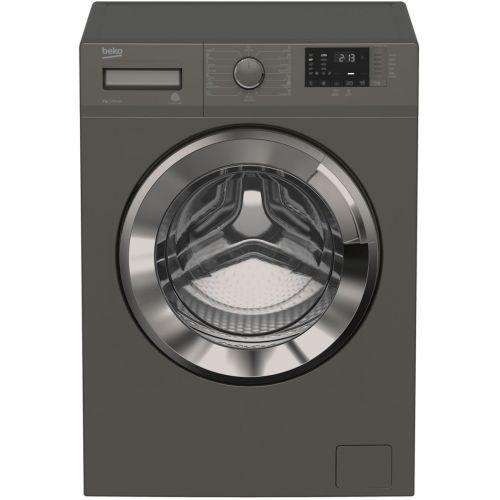 BEKO Washing Machine Full Automatic Digital 8 KG 1200 rpm Steam Chorome Door Inverter Gray WTV 8612 XMCI