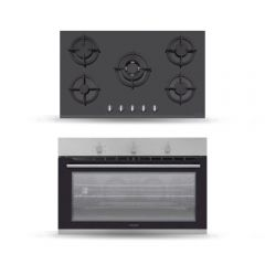 Dominox Built-In Gas Oven 90 cm With 2 fans Stainless FMXO 93 M GG XS/NF FEN
