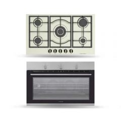 Dominox Built-In Gas Hob 90 cm and Gas Oven 90 cm DHX 905 4G TC XS F C FEN