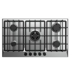 FRESH Gas Built-In Hob 5 Burner 90 cm Cast Iron Safety Stainless F-9585
