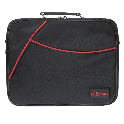 E-Train Laptop Shoulder Bag Nylon fits Up to 15.6 Black BG900
