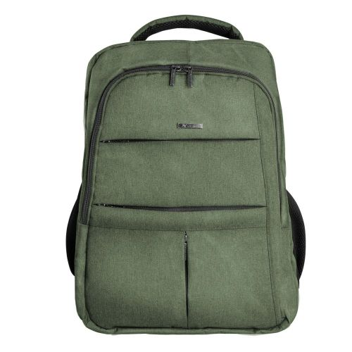 L'avvento Nylon Backpack Bag with safety compartment Fits Up to 15.6 Green BG72G