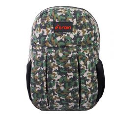 E-train Cotton Backpack Bag fits Up to 15.6 Army Green color BG01G