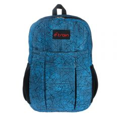 E-train Cotton Backpack Bag fits Up to 15.6 Blue color BG01L