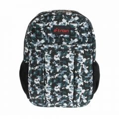 E-train Cotton Backpack Bag fits Up to 15.6 Army White color BG01W