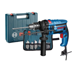 Bosch Drill 650W 13mm 2800 rpm With 100 Pcs Accessories Wrap SetGSB 13 RE+100