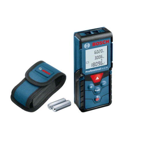 Bosch Laser distance, area and volume measuring instrument up to 40 meters GLM 40