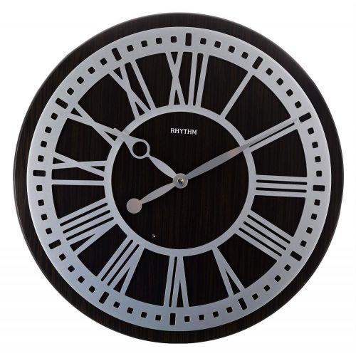 RHYTHM Wooden Wall Clock 60 cm Brown CMW902NR06