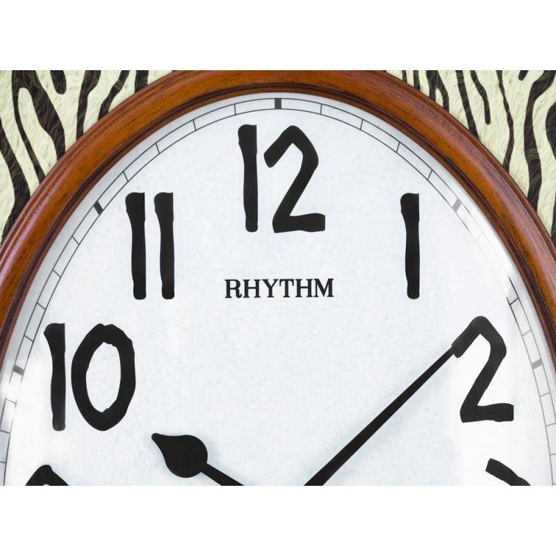 Rhythm Wooden Wall Clock 68 5 Cm Brown Cmg757nr06