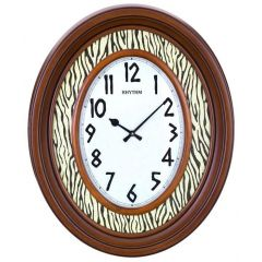 RHYTHM Wooden Wall Clock 68.5 cm Brown CMG757NR06