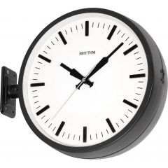 RHYTHM Wall Clock 29 cm with double face & hanger White CMG511NR02