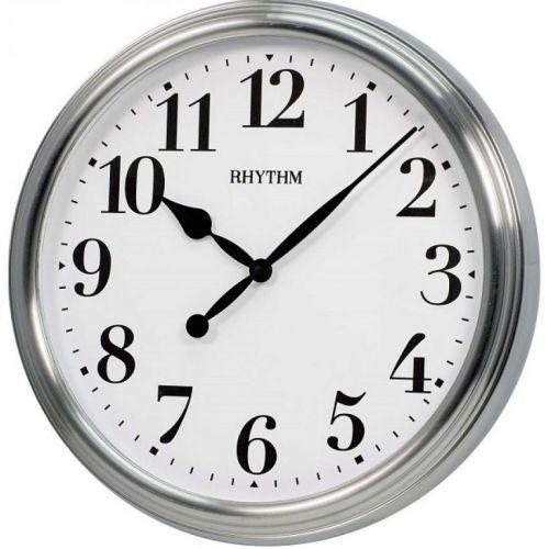 RHYTHM Metal Wall Clock White CMG766NR19
