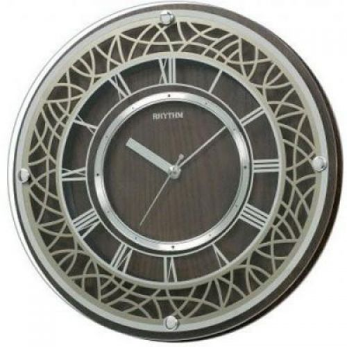 RHYTHM Wooden Wall Clock 29.8 cm Brown CMG103NR06